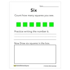 Numbers & shapes 6