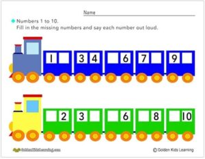 Number Trains 1-10